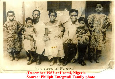 Philiph Emegwali Family  Circa: 1953